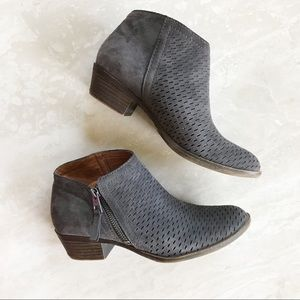 Lucky Brand Brielly Perforated Leather Booties
